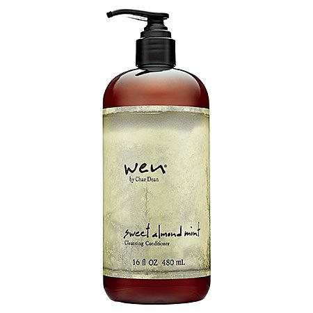 WEN Chaz Dean Sweet Almond Mint Cleansing Conditioner 16 oz with Free Pump