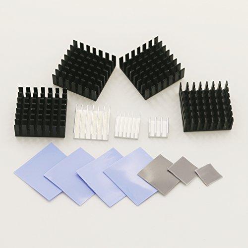 bntechgo® dissipateur thermique en aluminium Aileron de refroidissement 28mm x 28mm x 11mm