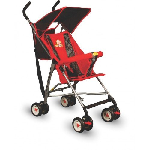 Panda Foldable Baby Stroller With Upper Canopy Red