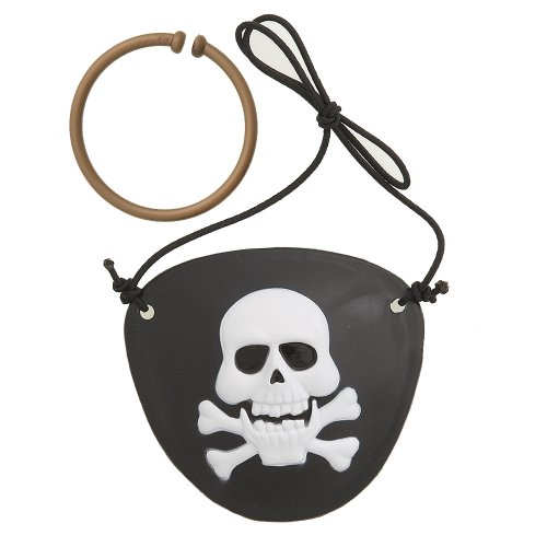 Pirate Eye Patch and Earring Set, 2ct - 1