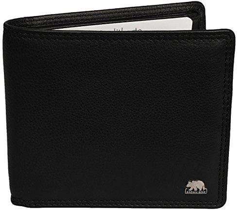 Brown Bear Geldbörse Herren Leder schwarz extra flach 8005-E