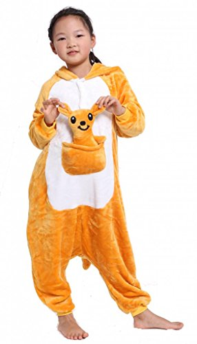 Kangaroo Kid's Costume Cosplay Anime Onesie Children Kigurumi Pajamas