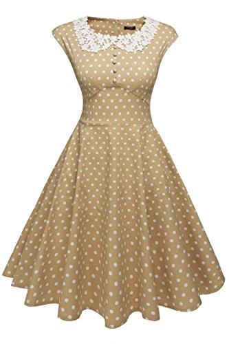 ACEVOG Women's Classy Vintage Audrey Hepburn Style 1940