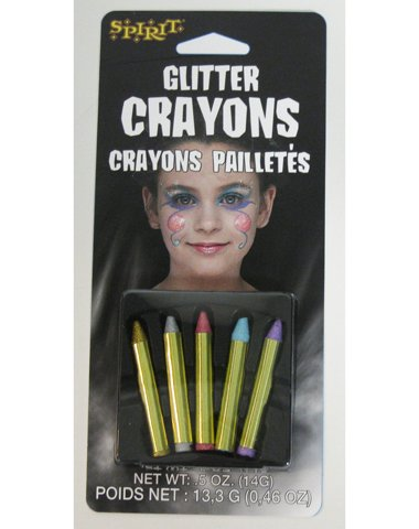 Fun World Women's Glitter Crayons Multicoloured One Size