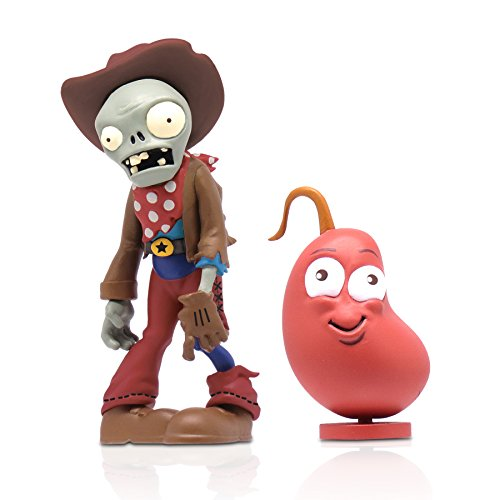 "Zoofy International 3"" Cowboy Zombie Action Figure with Chili Bean - 1"
