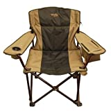 Big & Tall Folding Camp Chair (Super Strong, Extra Wide, Padded, Drink Holder)