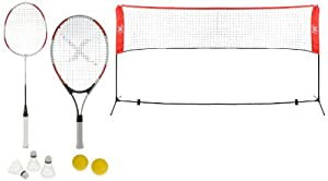 XQ Max Sportsnet Tennis Badminton Set  - Black/Red/White