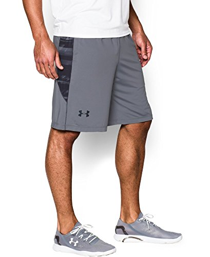 "Under Armour Men's Raid Printed 10"" Shorts, Steel (037), Large"