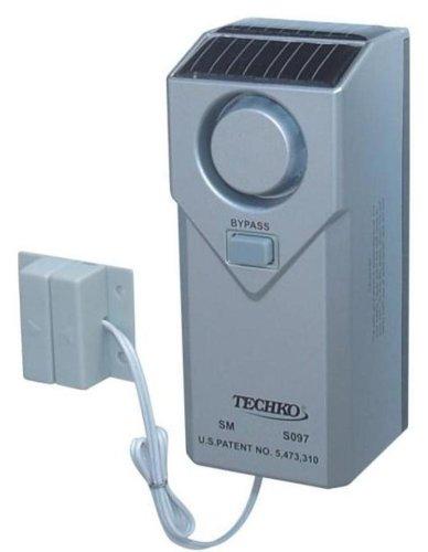 Techko-S097-IndoorOutdoor-Pool-Alarm-Magnetic-Sensor-Solar-Powered