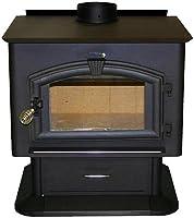 U S Stove 2500 Wood Heater, 112,000 BTUs, Heats 2,500 Square Ft.