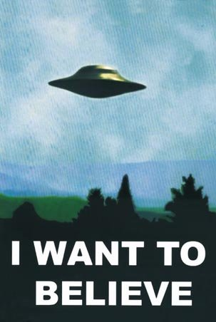 The X-Files I Want To Believe TV Poster Print - 24x36