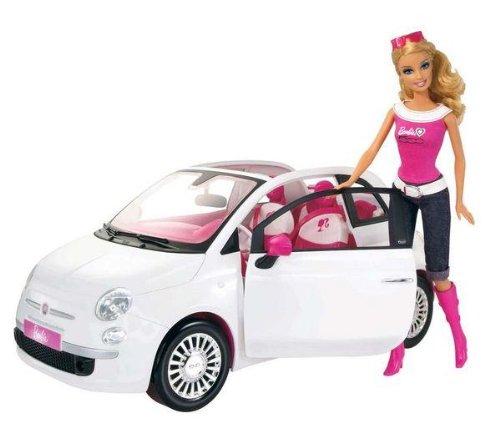 Barbie und ihr Fiat 500 günstig als Geschenk kaufen