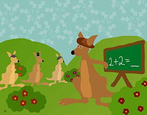 Green Leaf Art Kangaroo's School Canvas Art
