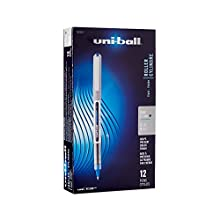 Uni-Ball Vision Stick Rollerball Pens, Fine Point, Blue Ink, Pack of 12 (60134)