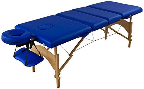 Fizzix-70024-Massageliege-4-Zonen-Holz-blau