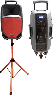 GLi Pro XF-1200O 12-Inch Portable Powered Speaker, Orange from Harbro Corporation