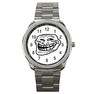 Troll Face 9WLGO897 Men's Wristwatches Stainless Steel