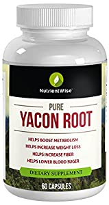 Pure Yacon Root Ultra Strong Miracle Diet Pills Healthy Natural Weight Loss Product For Women Get Slim Fast Lose Your Extra Belly Fat by Nature Wise