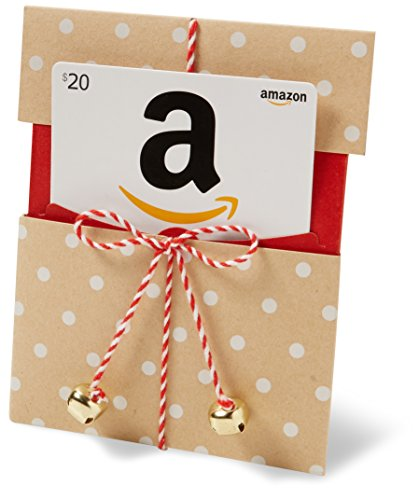 Amazon.com $20 Gift Card in a Kraft Paper Reveal (Classic White Card Design)