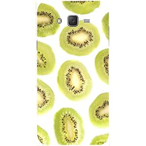 Casotec Kiwifruit Design Hard Back Case Cover for Samsung Galaxy J2