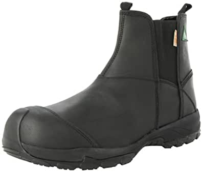 "Dawgs Prolite Pull On Composite Leather Toe Safety Boot, 6"" Height, Size 8, Black"