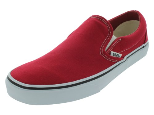 Vans Unisex's VANS CLASSIC SLIP-ON (CANVAS) SKATE SHOES 8.5 Men US / 10 Women US (CHILI PEPPER)
