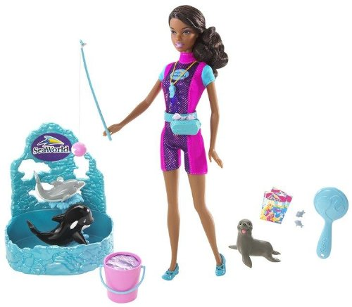 Barbie I Can Be - A Sea World Trainer (African-American) front-939536