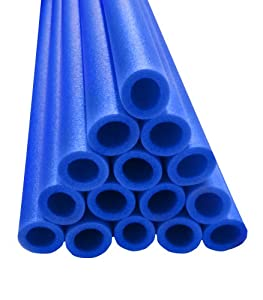Upper Bounce 44-Inch Trampoline Pole Foam Sleeves Fits for 1.5-Inch Diameter Pole (Set of 16), Blue