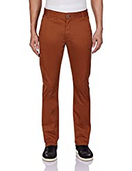 Being Human Men's Casual Trousers (8903861261325_BHNDC6030_28W x 32L_Tobacco)