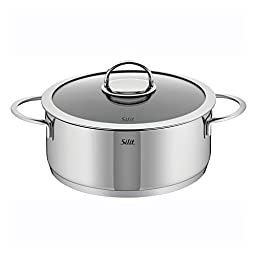 WMF 91.0128.6066 Vignola Stewpot with Lid, 6.5-Quart, Silver by WMF