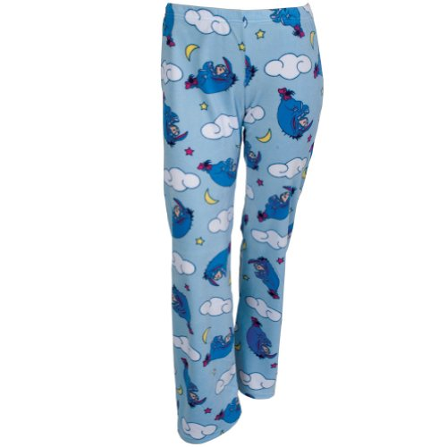Winnie The Pooh - Girls Eeyore Clouds Girls Youth Sleep Pants Medium Light Blue front-1011851
