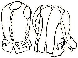 18th Century Revolutionary War Sleeved Waistcoat/vest Pattern