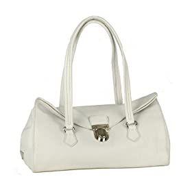 Prada BR2375 Leather Handbag - White