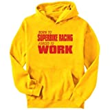 Born For Superbike Racing , Forced To Work ! Sports Mens Hoodie (Yellow, Sizes X-Small – XXX-Large) Picture