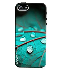 Omnam Leaf With Waterdrop Pattern Printed Designer Back Cover Case For Apple iPhone 5/S