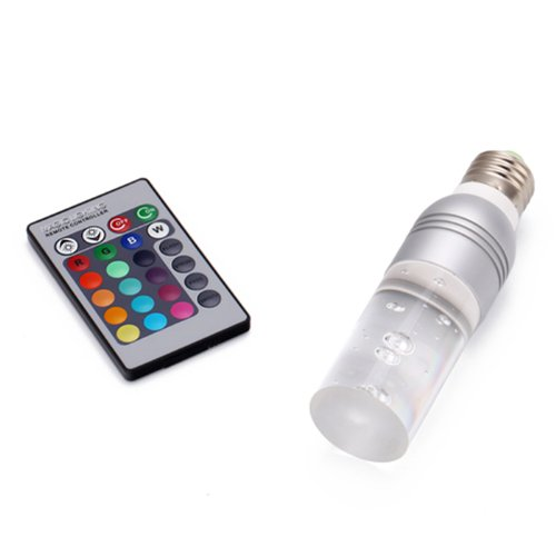Hde Multi-Setting Remote Controlled 16 Color Changing E27 3W Rgb Led Light Bulb