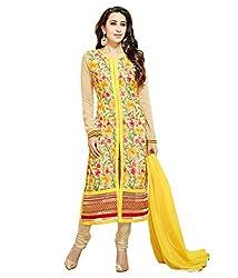 Dharmnandan Tex Women Salwar Suit Dress Material (DT004_Yellow)