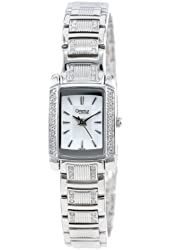 Caravelle by Bulova Women's 43L010 Crystal Accented White Dial Watch
