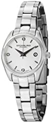 Stuhrling Original Women's 414L.01 Classic Ascot Prime Stainless Steel Bracelet Watch with White…
