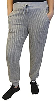 Women's Quilted Sweat Pants Track Lounge Loungewear, 1X-2X-3X Plus Size