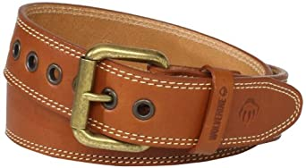 Wolverine Men's Heavy Duty Strap Belt, Tan, 32