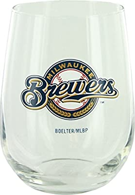 Milwaukee Brewers Curve Beverage Glass
