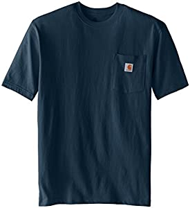 Carhartt Men's  Workwear Pocket Short Sleeve T-Shirt K87, Bluestone, X-Large