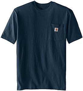 Carhartt Men's  Workwear Pocket Short Sleeve T-Shirt K87, Bluestone, X-Large