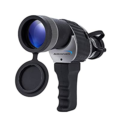 Aurosports 10X50 Waterproof Monocular Telescope with Detachable Handle, perfect for birdwatching from Aurosports