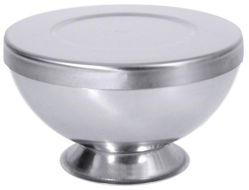 Contacto bander eisbombenform en acier inoxydable avec couvercle 16 cm