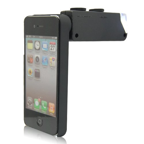 Mini Pocket 60X-100X Camera Lens Microscope Magnifier With Case For Iphone 4 4S