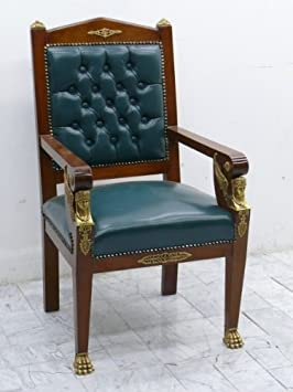 baroque armchair carved rococo antique style MoCh0606#