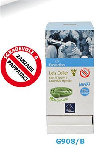 Collare cane protezione da leishmaniosi e zanzare all'olio di neem - L. 75 cm