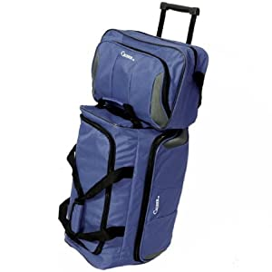 Lightweight Luggage Set of 20'' Wheeled Holdall & 14'' Flight Bag (Navy)